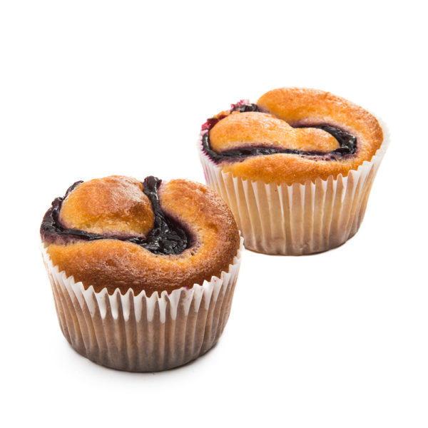 Muffin al Grano saraceno e Mirtilli – senza zucchero