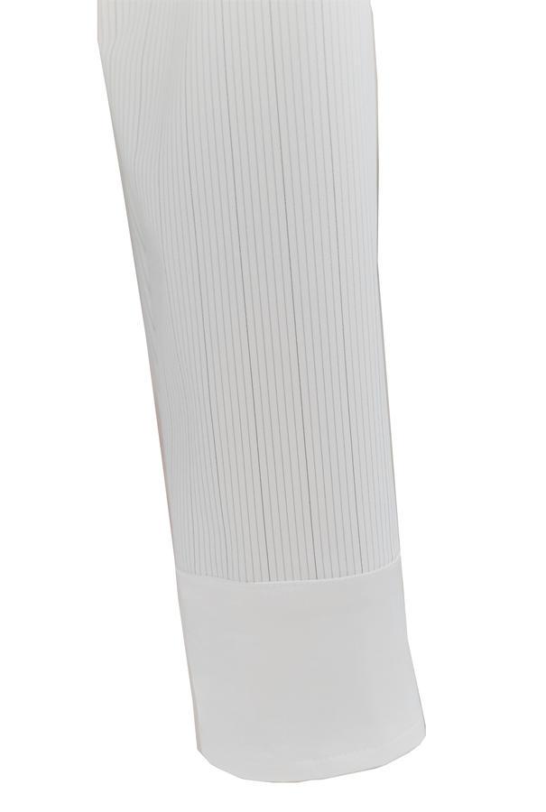 WHITE SHIRT SATIN STRETCH STRIPED FABRIC TECHNICAL PURPOSES