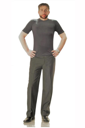 LIGHT GRAY GENTLE TROUSERS DANCE SOCIAL DANCE AND TANGO 7-0007