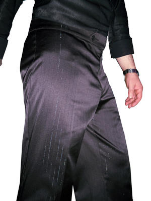 SATIN STRETCH PANTS STRIPED SILVER FROM ARGENTINE TANGO FOR MEN