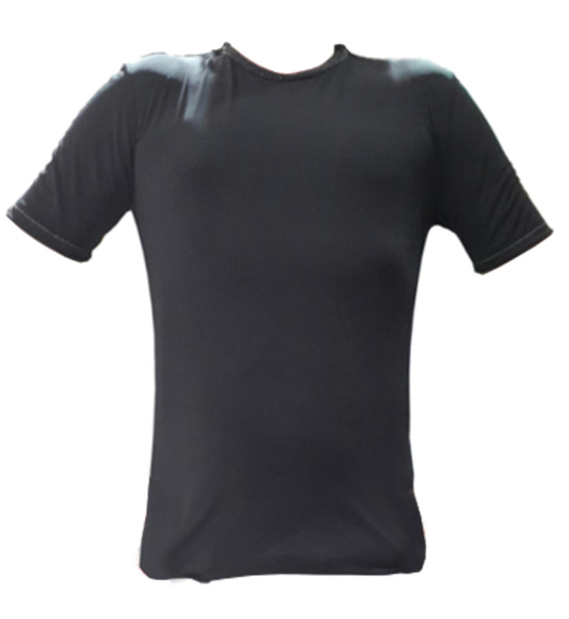 SHIRT FOR DANCE IN FABRIC ELASTIC SHORT SLEEVES 12-0003