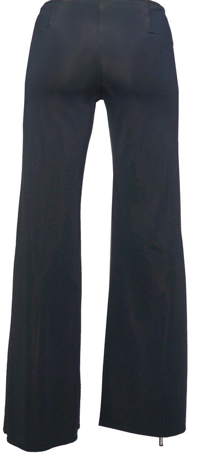 LYCRA PANTS IN HIGH QUALITY 'OPEN FRONT WITH SPLIT THAT STARTS AT THE THIGH HIGH DOWN 1-0007