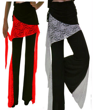 PANTS WITH BELT AND LACE  1-0002