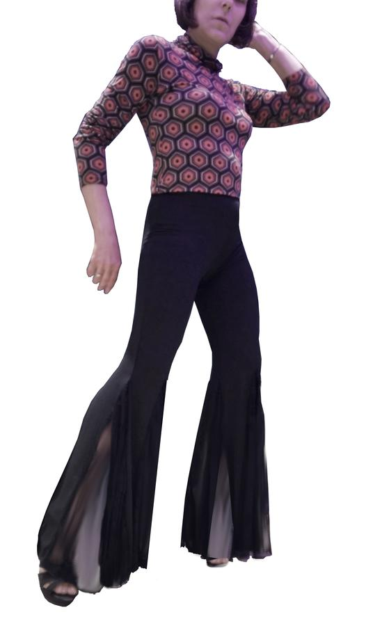 w DANCE TROUSERS IN SWEATER WITH INSERTS IN TULLE BOTTOMS 1-0010B
