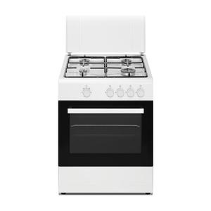 DAYA cucina a gas 4 fuochi forno elettrico BIANCA 60X60 DSGC-6060E