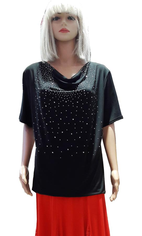 EXTRA LARGE VERSION IN ELASTIC VISCOSE WITH STRASS 6-0020