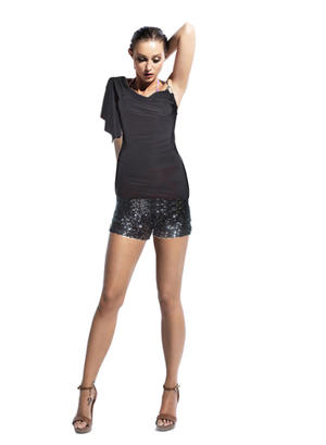 MESH TACTEL ELASTIC WING AND SHOULDER WITH STRASS 6-0016