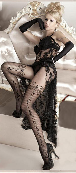 TIGHTS SENSUAL LINE EMBROIDERED BALLERINA LYCRA 20 DEN