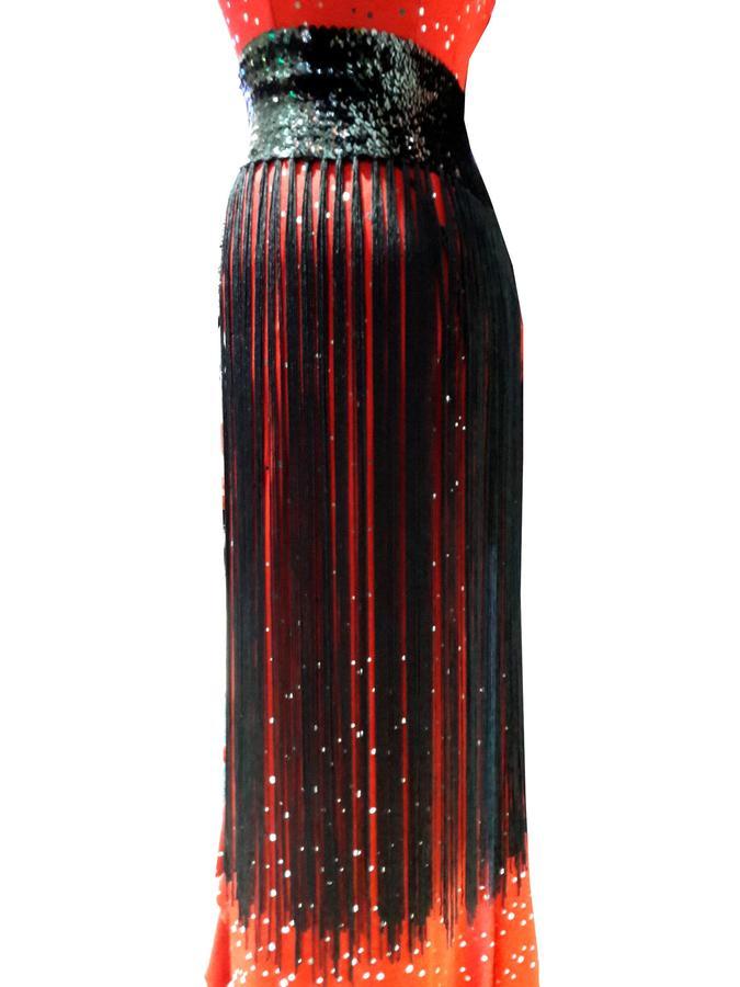 SUPER ELASTIC BELT WITH LONG FRINGE AND SEQUIN 11-0008