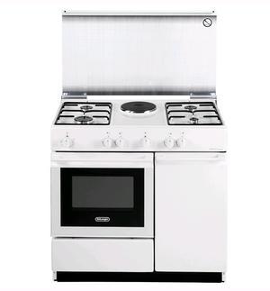 DE LONGHI cucina a gas 4 fuochi - forno elettrico - 1 piastra elettrica - BIANCA 86X50 SEW8541N