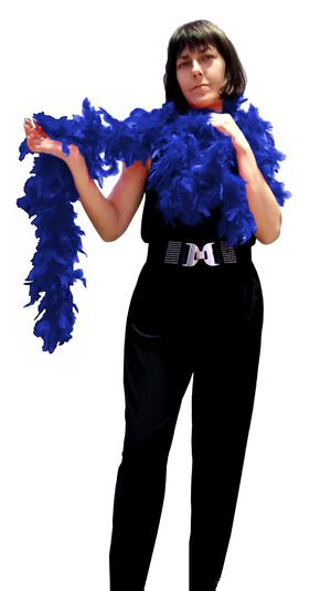 FEATHER BOA COLORED SLIM
