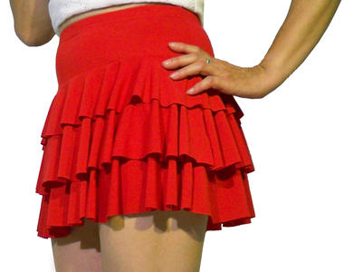 MINISKIRT TIERED SMOOTH 2-0003