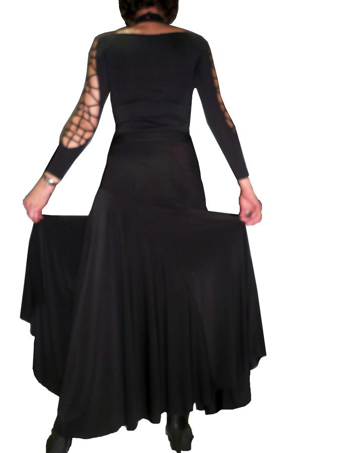 SKIRT LONG DANCE CUT TO BIAS TO SMOOTH AND DANCES 2-0009