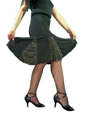 BRILLANT SKIRT FOR DANCE 2-0007