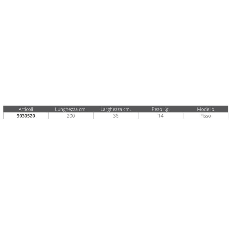 Passerella Fissa in Legno ed Alluminio MT. 2 - Offerta di Mondo Nautica 24