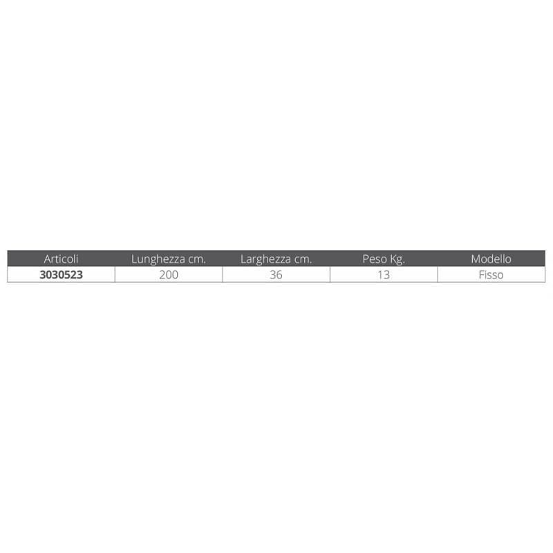 Passerella Fissa in Alluminio MT. 2 - Offerta di Mondo Nautica 24
