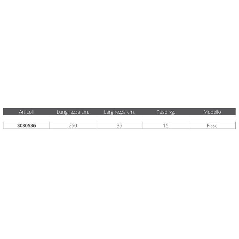 Passerella Fissa in Alluminio MT. 2,5 - Offerta di Mondo Nautica 24