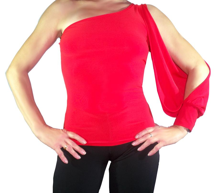T-SHIRT WITH SHOULDER OPENING ON ARM 6-0005