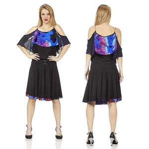 DANCE DRESS WITH SEMI-VUID FINAL WITH TULLE 4-0101