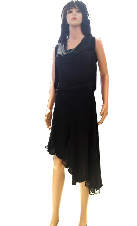SLEEPER JERSEY SKIRT WITH LACE INSERTS 2-0022