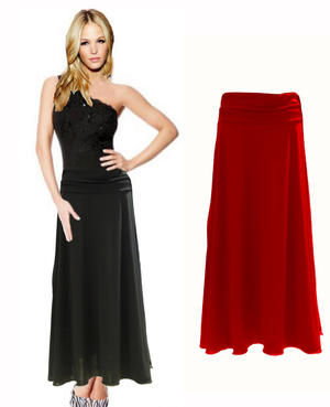 LONG DANCE SKIRT IN WIDE JERSEY UNDER A BELL 2-0028