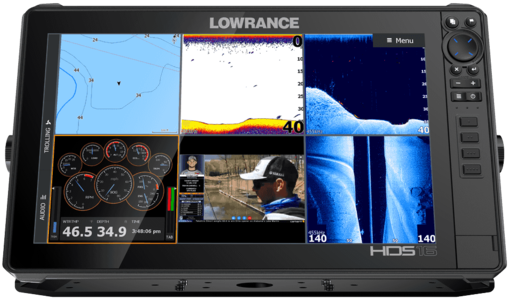 GPS Ecoscandaglio Lowrance HDS 16 Live con Trasduttore - Offerta di Mondo Nautica 24