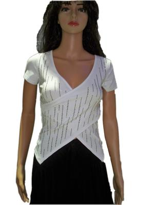 TOP VESTS CROSS IN COTTON FABRIC WITH STRASS 3-0010