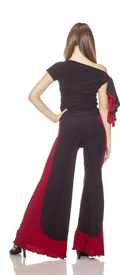 COMPLETE SWEATER AND TROUSERS IN ELASTIC JERSEY WITH RED BAND 3-0019