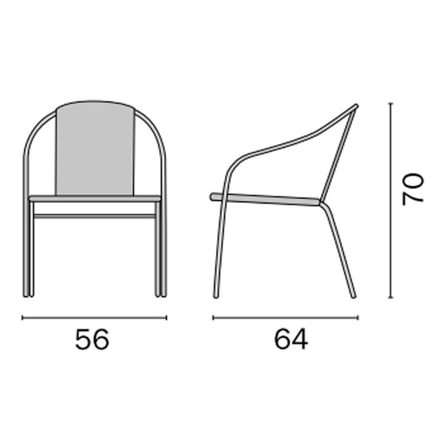 Sedia da giardino in alluminio Wicker Intrecciato CONTRACT CC29 impilabile