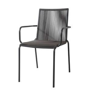 Sedia da giardino in metallo antracite SPAGHETTI CORDA cod CC 47M
