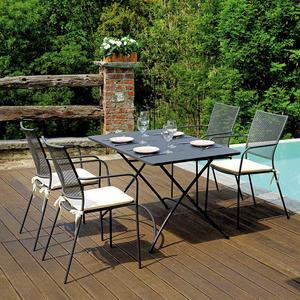 Tavolo in ferro modello ORTA 120 × 80 cm pieghevole FTF 58