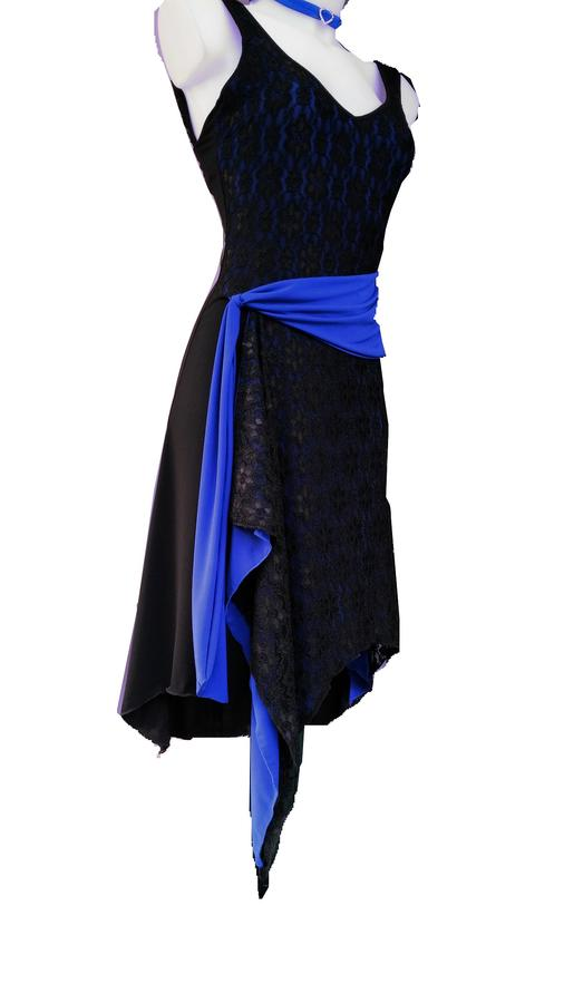 DANCE WITH LACE DRESS AND SASH BLUE ELECTRIC 4-0016
