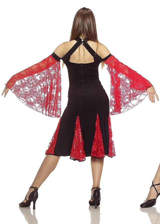 DRESS DANCE WITH INSERTS AND BACK LACE 4-0074