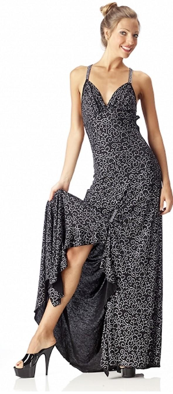 7284879ec4fb LONG DRESS WITH SPLIT IN AND BACK unglued 4-0068D