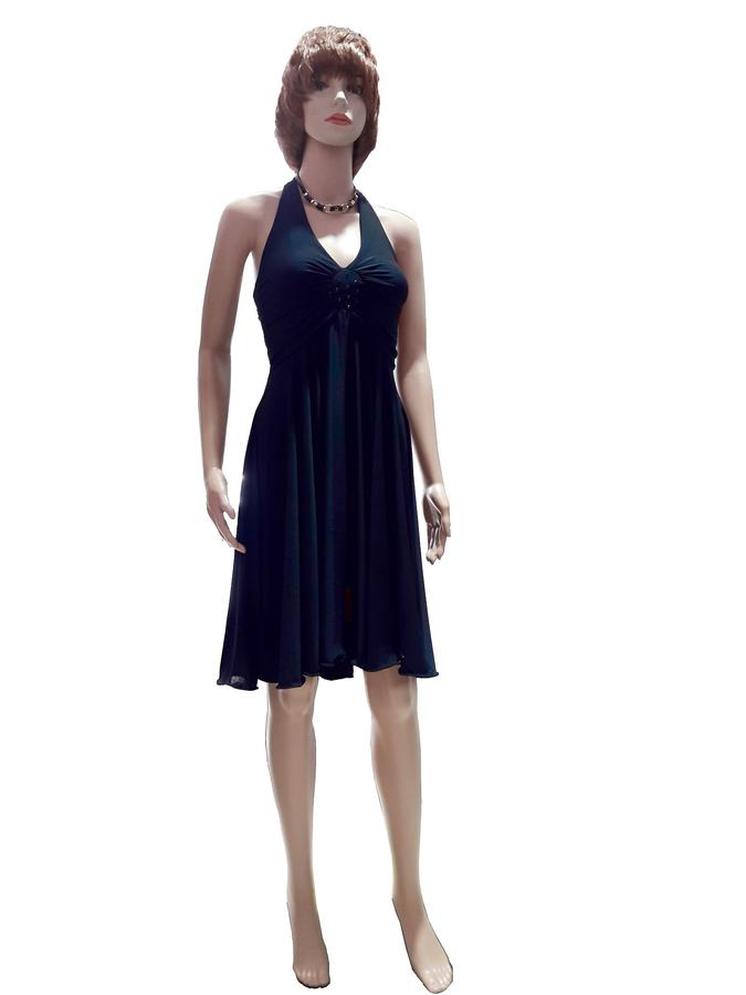 SOCIAL DANCE DRESS WITH CENTRAL ROOF STRASS AND REAR PANELS 4-0072