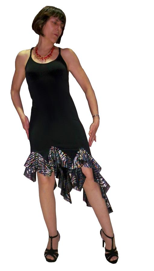TANGO AND LATIN DRESS WITH BRIGHT RUCHES 4-0018