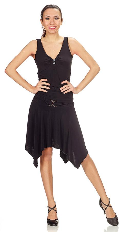DRESS WITH FINAL TIPS STRAP IN LIFE AND BREAST GATHERED 4-0062D