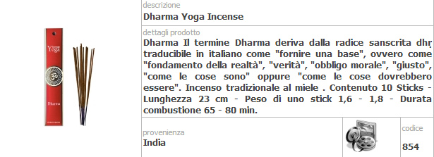 Incensi per lo Yoga Fiore D' Oriente Confezione da 5