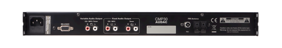 Audac CMP30 - lettore audio all-in-one