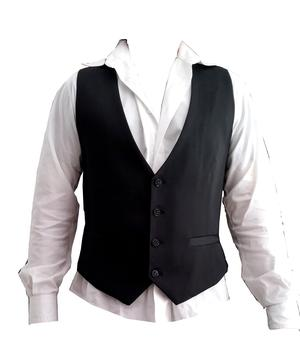DANCE VEST REGOLAR VERSION 4 BUTTONS WITH RHINESTONE POCKETS 8-0004