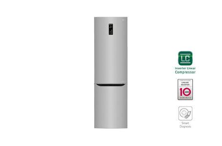 LG frigorifero combinato 600lt A+++ INOX Inverter Total No Frost GBB60NSFFS