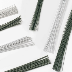 Set 50 steli per fiori verdi spessore 0,25 mm - calibro 30