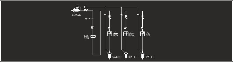 Quadro elettrico portatile trifase 63A