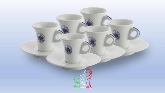 6 TAZZINE CAFFE' + PIATTINI