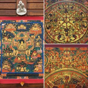 Thangka - La vita del Buddha / L'illuminazione del Buddha