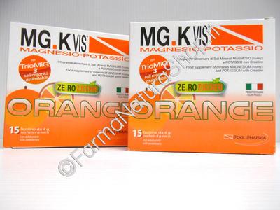 MG.K Vis Magnesio-Potassio con Creatina ORANGE SENZA ZUCCHERO ►PROMO BIPACK 15+15◄
