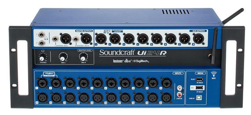 SOUNDCRAFT UI24R - Mixer Digitale Wi-Fi con registratore Multitraccia