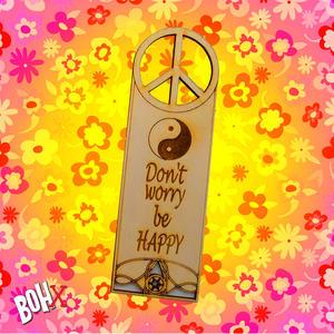 Segnalibro hippie in legno