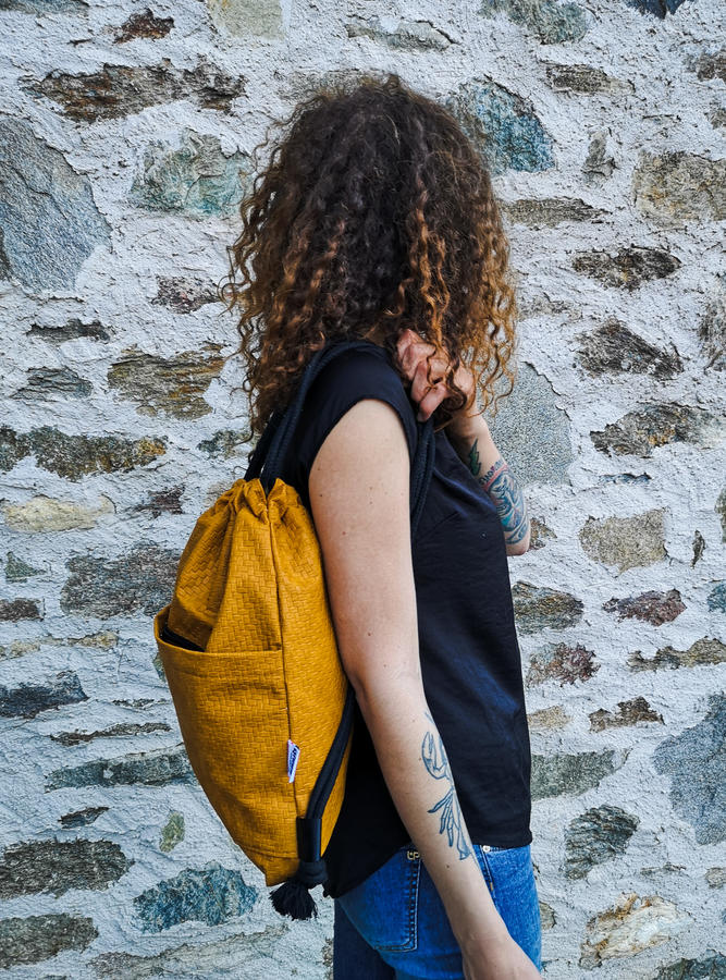 "Bag ""LABYRINT"" dark yellow"