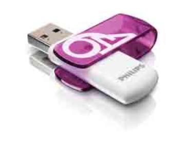 PHILIPS USB 2.0 64GB VIVID EDITION VIOLA